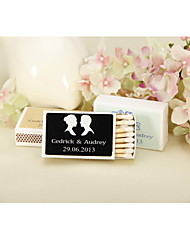 cheap -Wedding Décor Personalized Matchbooks - Silhouettes-Set of 12 (More Colors)