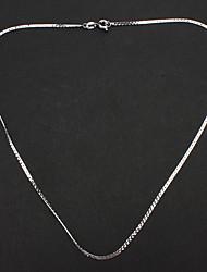 Недорогие -унисекса Посеребренная цепи сплава ожерелье No.15 ювелирных изделий