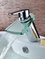 preiswerte -Mittellage Einhand Ein Loch in Chrom Waschbecken Wasserhahn