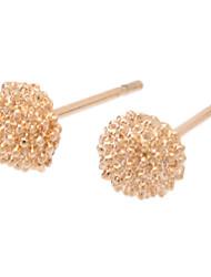 Feminino Brincos Curtos bijuterias Ouro Liga Jóias Para Diário