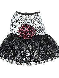 Chien Robe Vêtements pour Chien Léopard Noir Costume Pour les animaux domestiques