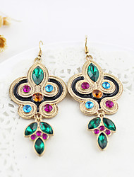 Women's Drop Earrings Folk Style Synthetic Gemstones Rhinestone Imitation Diamond Alloy Jewelry For Party Daily