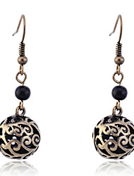cheap -European Style Vintage Carve Balls Drop Earrings