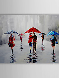 cheap -IARTS®Hand Painted Oil Painting Landscape Rain with Stretched Frame 1309-LS0917