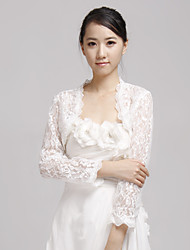 Long Sleeves Lace Wedding Party Evening Casual Wedding  Wraps Coats / Jackets