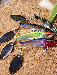 Недорогие -1 pcs Жесткая наживка Колеблющаяся блесна Рыболовная приманка Жесткая наживка Вибрация Спиннер-приманки Bass Форель щука Морское рыболовство Пресноводная рыбалка Жесткие пластиковые Металл