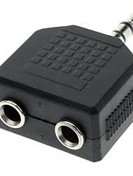 3.5mm mâle à femelle double de Split Audio Adapter