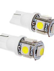 cheap -2 Pcs T10 1.5W 5x5050SMD 100-120LM 6000K Cool White Light LED Bulb (12V)
