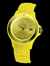 cheap -Women's Wrist Watch Hot Sale Plastic Band Candy color / Casual / Fashion Black / White / Blue