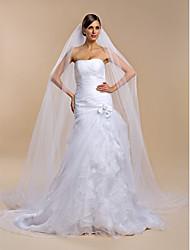 Недорогие -Свадебные вуали Один слой Фата для венчания 106,3 в (270cm) Тюль Белый Цвет слоновой кости