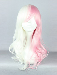 Cosplay Wigs Dangan Ronpa Cosplay White / Pink Medium Anime/ Video Games Cosplay Wigs 55 CM Heat Resistant Fiber Male / Female