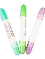 1PCS Polish Corrector Pen rimozione con 3 Pennini modificabili Nail Art (colore casuale)