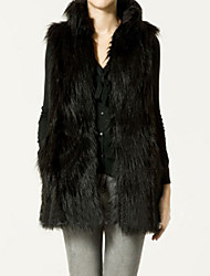 Fur Vest With Sleeveless Standing In Faux Fur Party/Evening Vest(More Colors)
