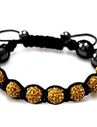 cheap -Women's Strand Bracelet Silver Bracelets - Rhinestone Bracelet Black / Red / Green For Casual