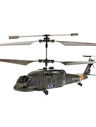 Недорогие -SYMA S102G Многоканальный мини-вертолет армейского зеленого цвета с гироскопом на инфракрасном пульте управления (6xAA)
