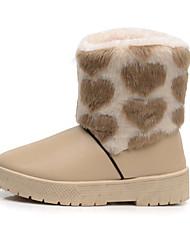 Mulheres Botas de inverno Couro Ecológico Esportes de Neve Anti-Escorregar Anti-desgaste Inverno