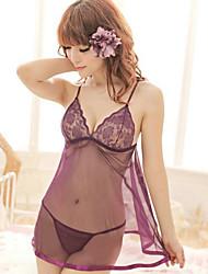 Недорогие -Для женщин Бебидол / маечка Ультра-секси Ночное белье Однотонный Смесь хлопка Фиолетовый