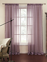 Rod Pocket Grommet Top Tab Top Double Pleat Two Panels Curtain Modern , Jacquard Stripe Polyester Material Sheer Curtains Shades Home