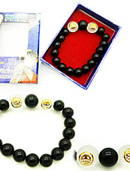 Gioielli Ispirato da One Piece Portgas D. Ace Anime Accessori Cosplay Bracciali Nero Gemme artificiali Uomo