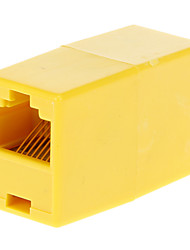 cheap -RJ45 Female to Female Adapter Yellow