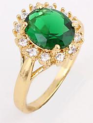 Chapeamento de ouro Zircon 1cm Anel J1667 da KU NIU Mulheres