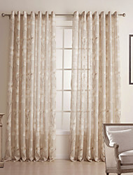 cheap -Two Panels Curtain Country Bedroom Linen / Cotton Blend Material Sheer Curtains Shades Home Decoration For Window