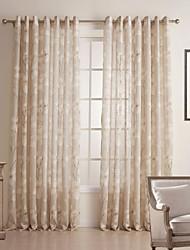 baratos -Dois Painéis Tratamento janela Rústico Quarto Linho/Mistura de Algodão Material Sheer Curtains Shades Decoração para casa For Janela