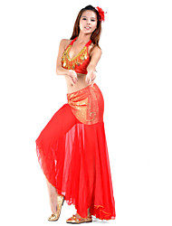 cheap -Belly Dance Outfits Women's Training Chiffon Beading
