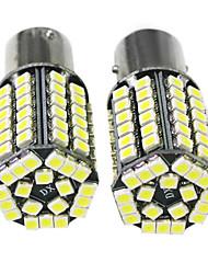 68 3528 SMD 1157 BAY15D Blanc DC 12V ampoule de voiture d'arrêt de freinage Lampe (1 paire)