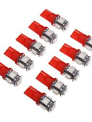 economico -T10 Auto Rosso SMD 5050 Luce strumentale Luce targa Luce fari laterali Luce indicatore di direzione Luce freno