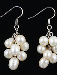 Mode Sterling Silber mit Perlen Frauen Ohrringe