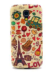 TPU brillant Tour Eiffel et Pain pour le Samsung Galaxy S4 mini-I9190 I9195