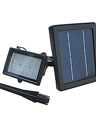 30-LED Cool White Light LED Rechargeable Waterproof Solar Powered Flood Light White Lamp with Lithium Battery