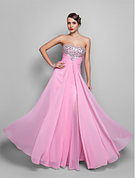 A-Line Strapless Floor Length Chiffon Prom Dress with Crystal by TS Couture®