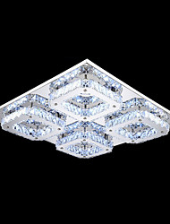 UMEI™ LED Crystal Flush Mount, 4 Light, Modern Transparent Electroplating Stainless Steel