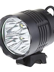 baratos Faróis-Lanternas de Cabeça Luzes de Bicicleta LED Cree XM-L T6 3200 lm 3 Modo Iluminação Bisel de Golpe Campismo / Escursão / Espeleologismo, Ciclismo, Pesca
