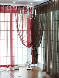 Curtain Neoclassical , Solid Polyester Material Home Decoration For Window
