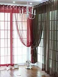 Vindue Behandling Neoklassisk , Ensfarvet Polyester Materiale Hjem Dekoration For Vindue