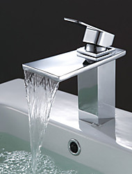 abordables -Centerset Chrome cascade lavabo robinet