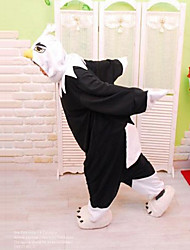 Kigurumi Pyjamas Eagle Heldragtskostumer Pyjamas Kostume Polarfleece Sort Cosplay Til Voksne Nattøj Med Dyr Tegneserie Halloween Festival