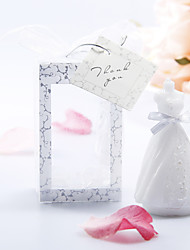 Pure Wedding Dress Shaped Candle - Set of 6 Wedding Favors Beautiful