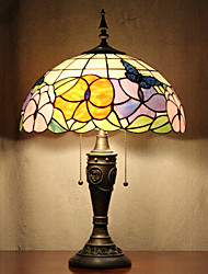 cheap -Butterflies Pattern Table Lamp, 2 Light, Tiffany Resin Glass Painting