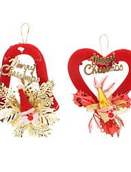 Недорогие -Сердце / Белл Shaped Санта-Клаус Pattern рождественские украшения