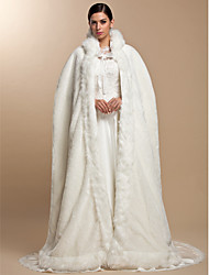 Fur Wraps / Wedding  Wraps / Hoods & Ponchos Capes Long Sleeve Faux Fur Party/Evening Open Front