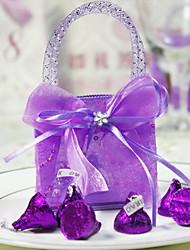 abordables -sostenedor del favor de la organza con favores de la boda de las bolsas del diamante artificial de las cintas-12
