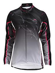 cheap -Mysenlan Cycling Jacket Women's Long Sleeves Bike Jacket Top Thermal / Warm Windproof Fleece Lining Wearable Polyester Fleece Stripe