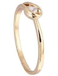Chapeamento de ouro Zircon Anel J27067 das KU NIU Mulheres