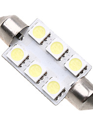 6 5050 SMD LED 39mm Car Interior Dome Festoon White Bulb Light