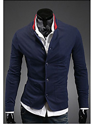 cheap -Men's Chic & Modern Blazer-Solid Colored