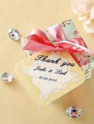 abordables -etiquetas de favor personalizadas - otoño dorado (conjunto de 36) favores de la boda